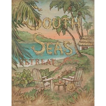 South Seas Retreat Poster Print by Janet Kruskamp (20 x 24)