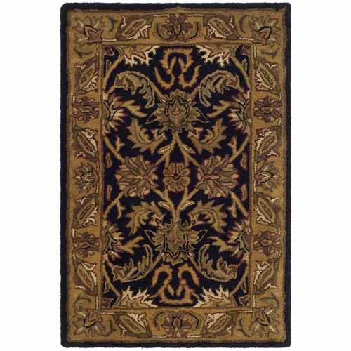 Safavieh Classic Houston Tufted Wool Area Rug, Black/Gold