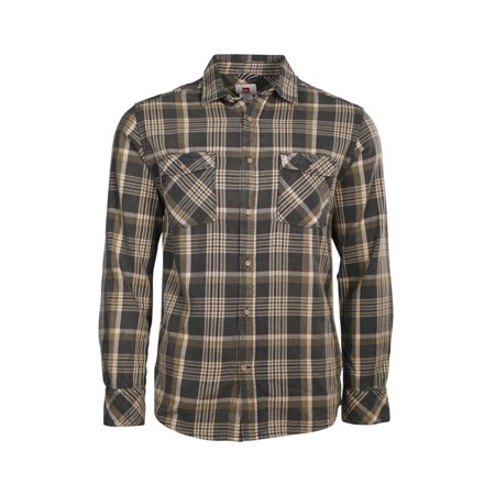 - Quiksilver Mens Flannel Plaid Button Up Shirt