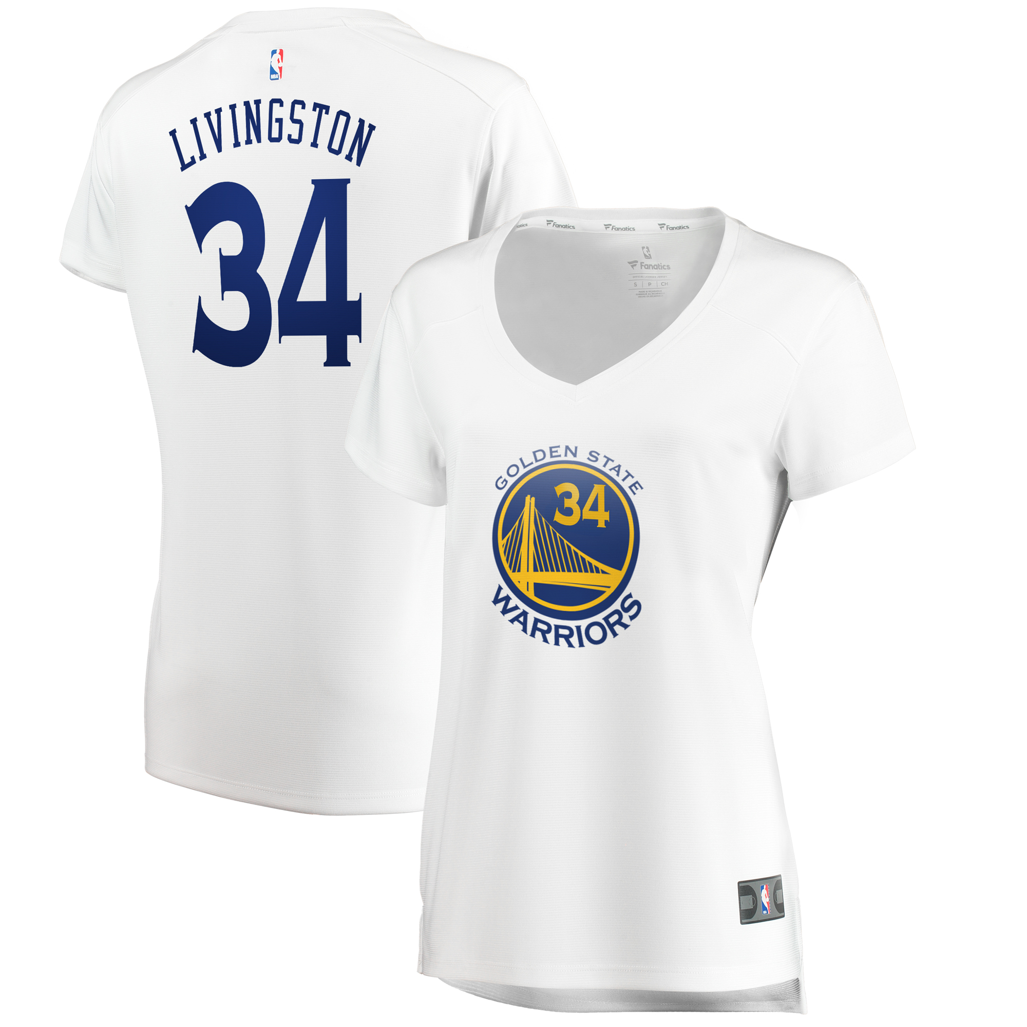 Shaun Livingston Golden State Warriors Fanatics Branded Women's Fast Break Player Jersey - Association Edition - White
