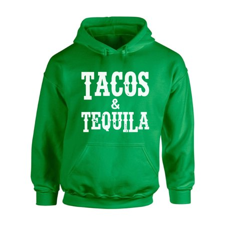 Awkward Styles Tacos and Tequila Hooded Sweatshirt Cinco de Mayo Hoodie for Men and Women Funny Mexican Holiday Hoodie Sweater Drunk Hooded Sweater Cinco de Mayo Gifts for Him and Her Mexican Party