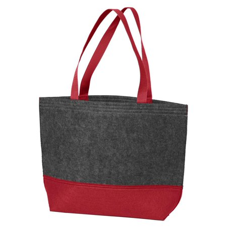Port Authority Colorblock Medium Felt Tote Bag