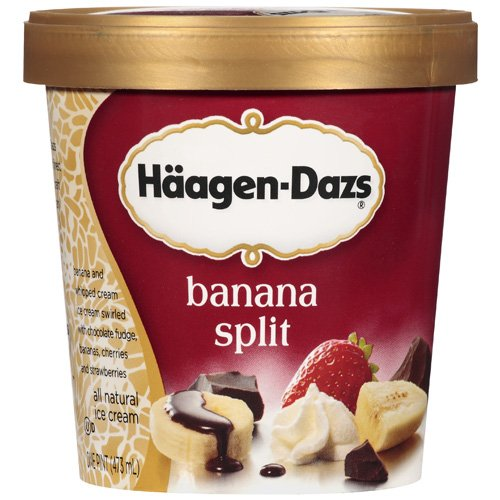 Haagen-Dazs Banana Split Ice Cream, 1 pt