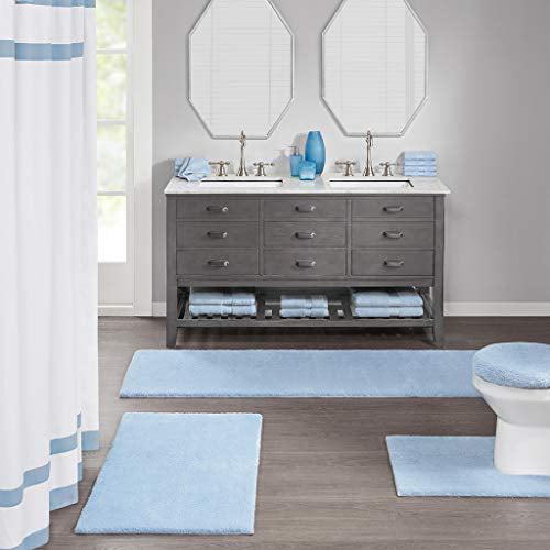 Fieldcrest Bath Rugs Metallic Blue