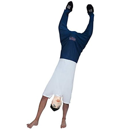 Mens Upside Down Dude Optical Illusion Costume for Bachelor Stag Party Fancy
