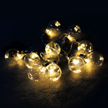 Goplus Christmas 10 LED String Ball Lights Xmas Wedding Party Garden Decor Lamp Clear ()