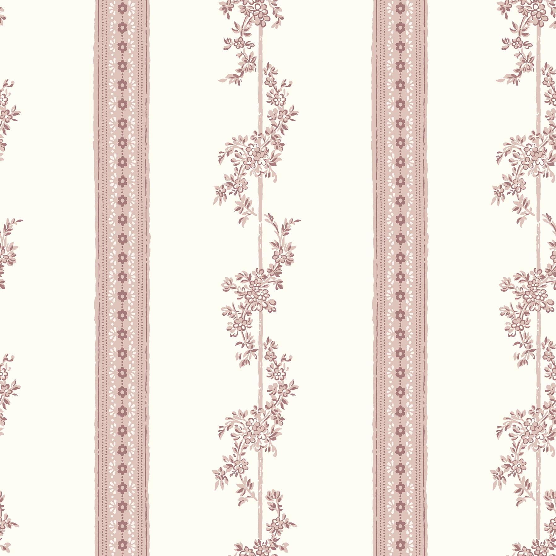Wall Vision Drottningholm Rose Floral Stripe Wallpaper Walmart