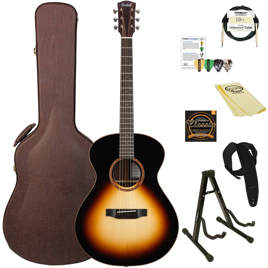 Bedell Guitars Coffee House Series Orchestra Acoustic-Electric Guitar (Espresso Finish) with ChromaCast Accessories