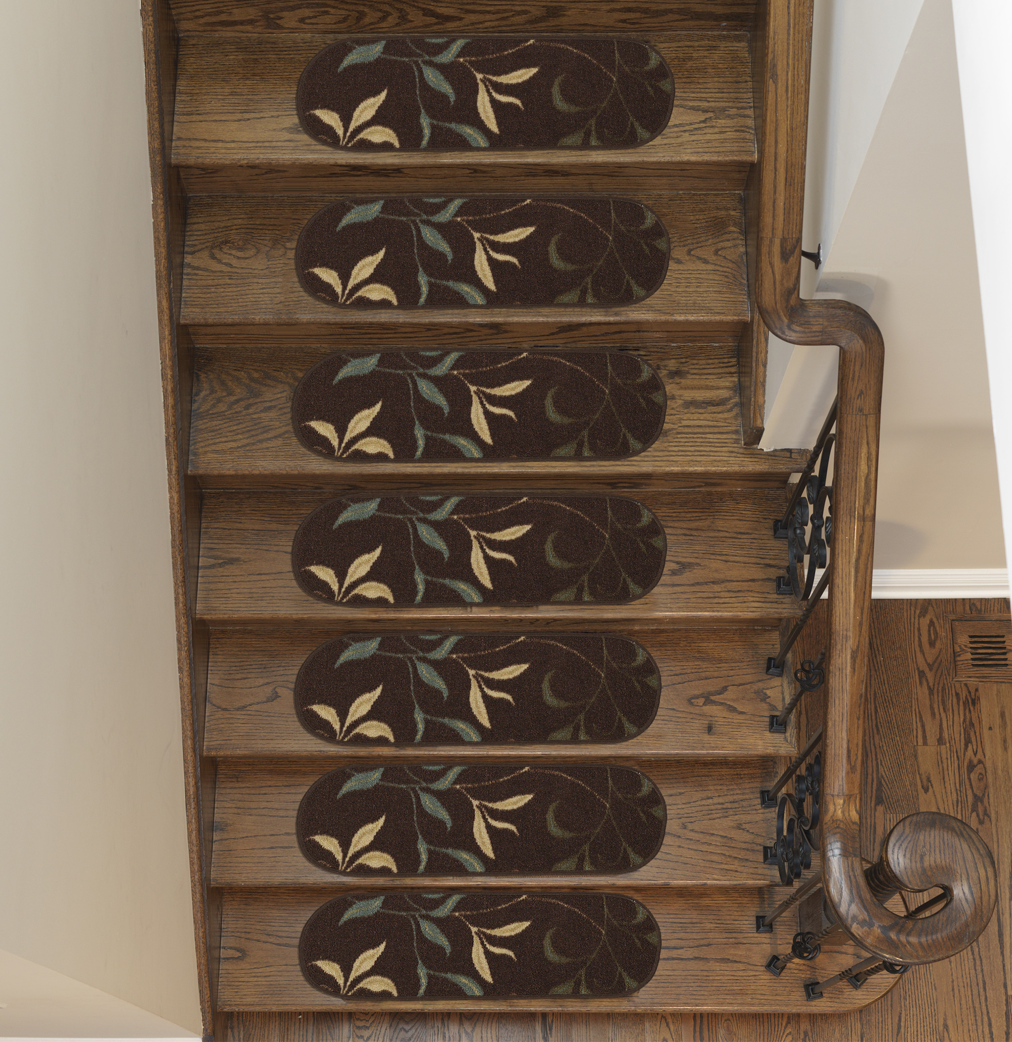 "Ottomanson Ottohome Collection Modern Stair Treads, 8.5"" x 26"""