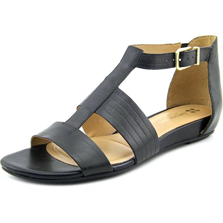 04d36c52cf14 Naturalizer - Naturalizer Longing Women Open Toe Leather Black Gladiator  Sandal - Walmart.com