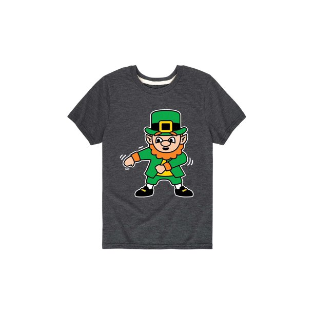 Flossing Leprechaun - St Patrick Day Youth  Short Sleeve Tee