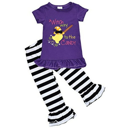 Unique Baby Girls 2 Piece Witch Halloween Outfit (12 - Halloween Witches Outfits
