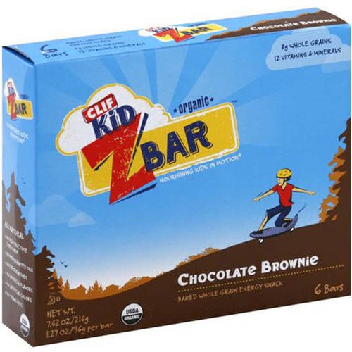Clif Kid Zbar Chocolate Brownie Mixed Whole Grain Energy Snack, 7.62 oz, (Pack of 12)