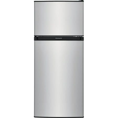 """Frigidaire FFPS4533UM 19"""" Compact Refrigerator with 4.5 cu. ft. Total Capacity, Adjustable Glass Shelves, Reversible Door and Full Width Freezer in Silver Mist"""
