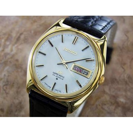 Seiko LM Lord Matic Vintage Japanese 1970s Auto Vintage Gold Plate Men Watch U10