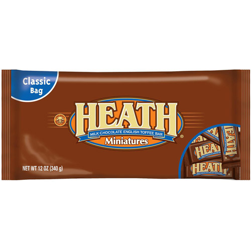 Heath English Toffee Bar Miniatures Milk Chocolate, 12 oz