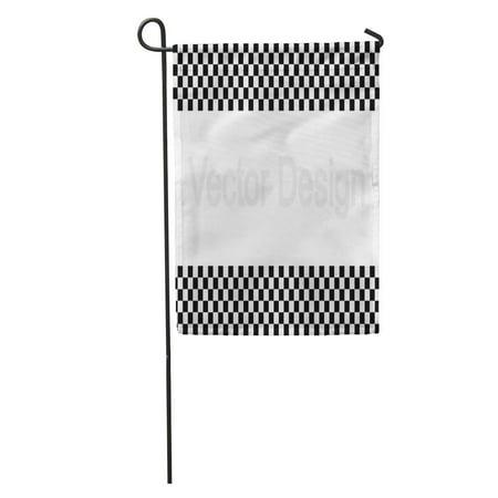 KDAGR Chequered Checkered Racing Flag White Motocross Race Auto Black Car Garden Flag Decorative Flag House Banner 12x18 inch](Race Car Checkered Flag)
