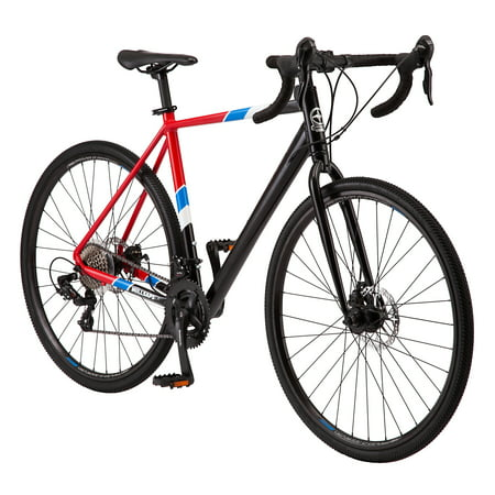 Schwinn Millsaps Road Bike, 700c wheels, 14 speeds, black / red, cyclocross