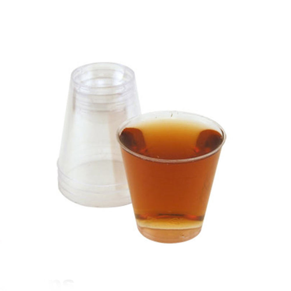 50 Clear Shot Glasses 2 oz Hard Plastic Disposable Cups Wine Party Catering Bar by KIRWV KILWFXGH