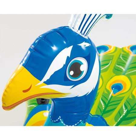 Intex Giant Inflatable Colorful Peacock Island Ride On Pool Float Raft (2 Pack) - image 3 de 5