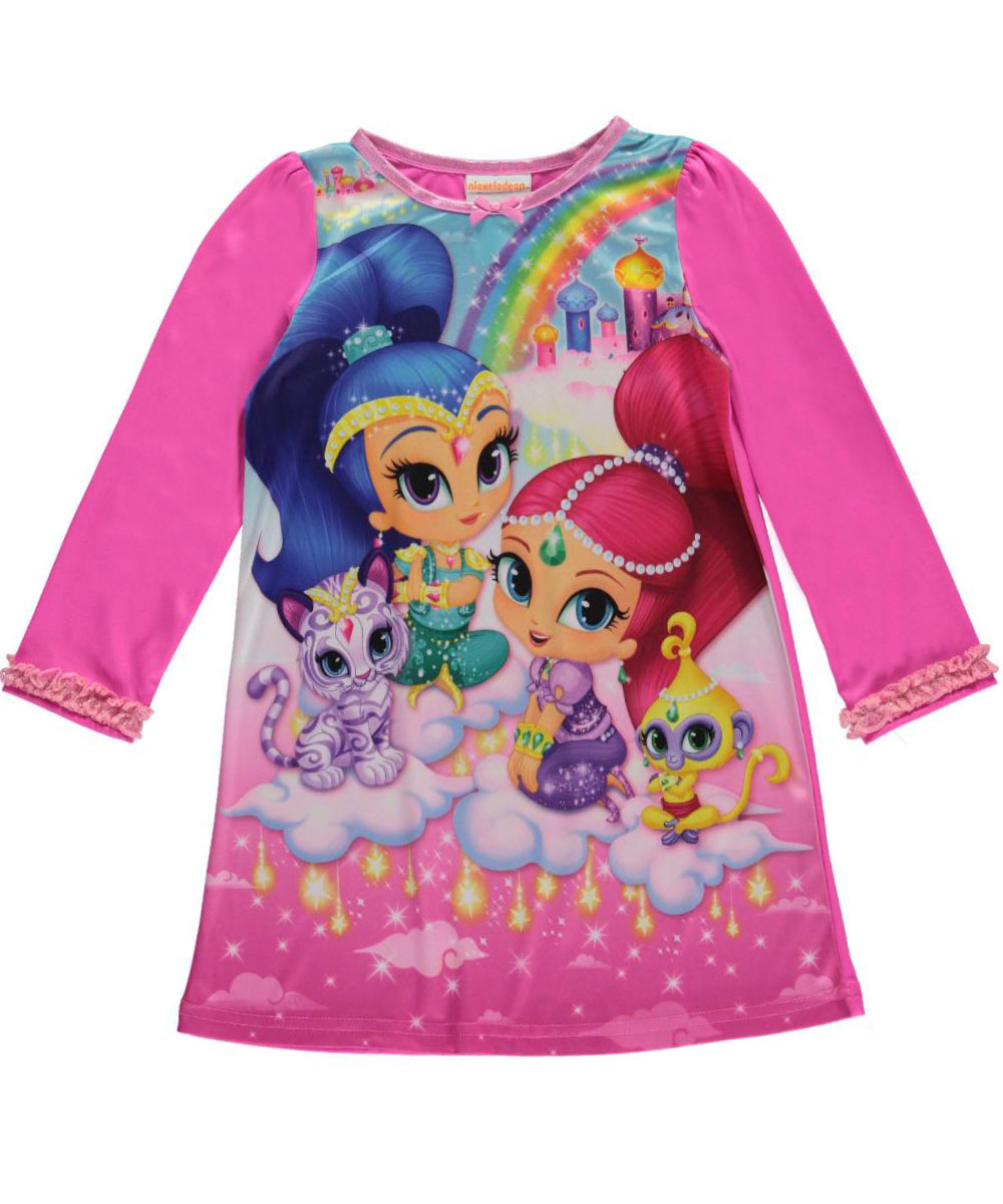 "Shimmer and Shine Little Girls' Toddler ""Bejeweled Dreamland"" Nightgown (Sizes 2T - 4T)"