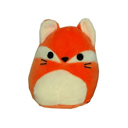 Kellytoy Squishmallow Orange Fox Pillow Plush Toy, 5 inches (Fax Toy)