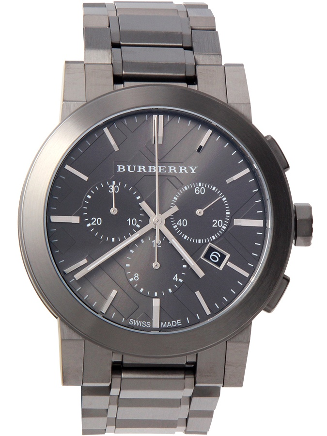 Burberry Gray Ion Chronograph Mens Watch BU9354