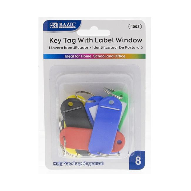 Bazic 2323157 Bazic Key Tag with Label Window Pack of 8 Case of 24 by Bazic Products