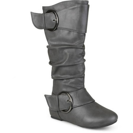 Leather Buckle Boot - Girl's Faux Leather Buckle Boots