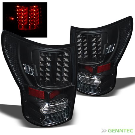 - For 2007-2013 Toyota Tundra Pickup Truck Blk LED Tail Lights Brake Lamps  Set Pair Left+Right/2008 2009 2010 2011 2012