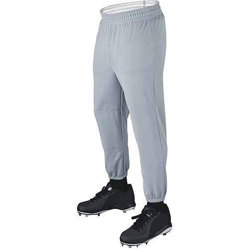 Wilson Basic Adult Baseball Pull-Up Pants with Elastic Waistband, Grey by Wilson