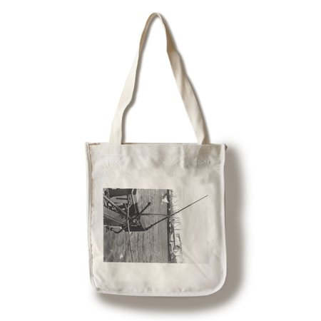 Bandon, Oregon View of Harbor Waterfront Photograph (100% Cotton Tote Bag - (Waterfront Stores)