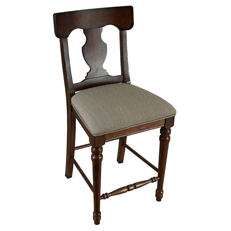 A-America Andover T-Back Upholstered Counter Chairs - Set of 2