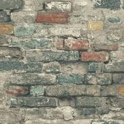 RoomMates Brick Alley Peel & Stick Wallpaper - Red