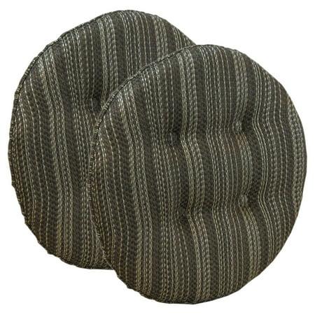 Klear Vu Gripper Scion Tufted Bar Stool Cushion - Set of 2