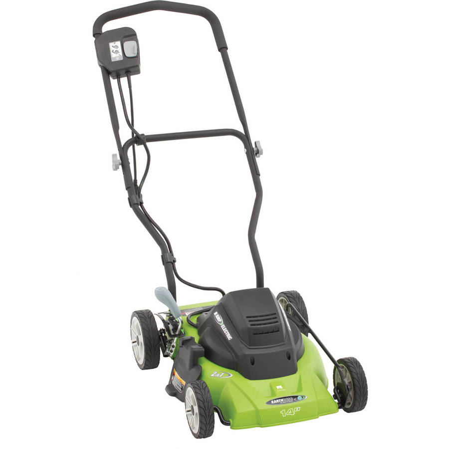 "Click here to buy Earthwise 50214 14"" 8-Amp Side Discharge Mulching Corded Electric Lawn Mower by Great States Corporation."