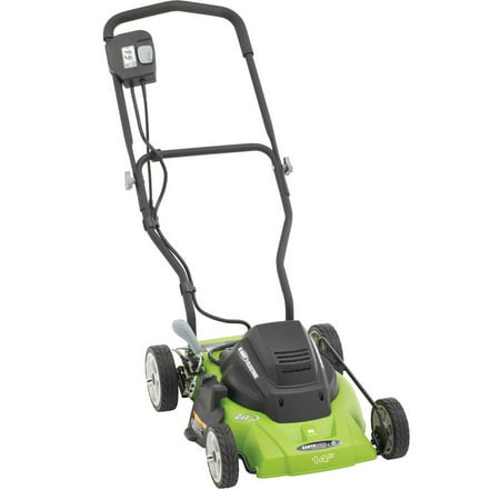 "Earthwise 14"" 8-Amp Side Discharge/Mulching Corded Electric Lawn Mower"