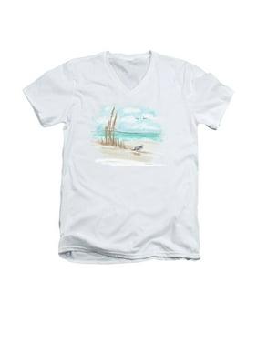 d978b6e6 Product Image Seagulls On The Shore Adult V-Neck T-Shirt Tee
