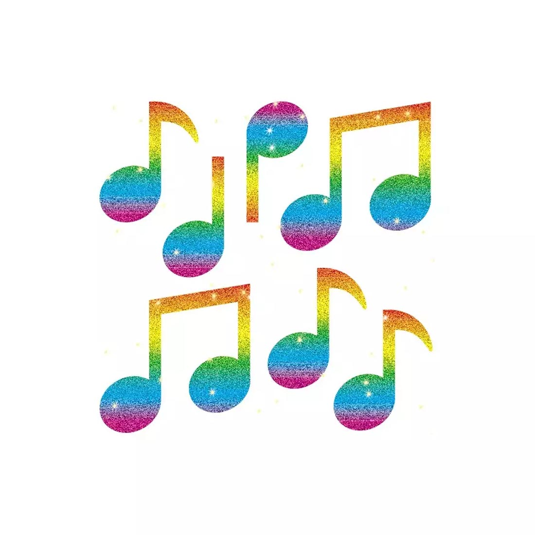 Music Notes Dazzle Stickers by Carson-Dellosa