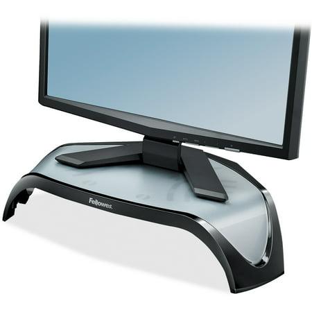 Fellowes Adjustable Monitor - Fellowes, FEL8020101, Smart Suites Series Corner Monitor Riser, 1 Each, Black,Gray