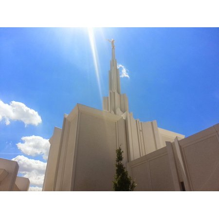 LAMINATED POSTER Lds Temple Church Mormon Temple Mormon Temple Poster Print 24 x 36 ()