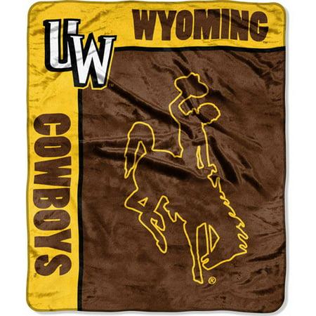 "NCAA School Spirit 50"" x 60"" Royal Plush Raschel Throw, Wyoming"