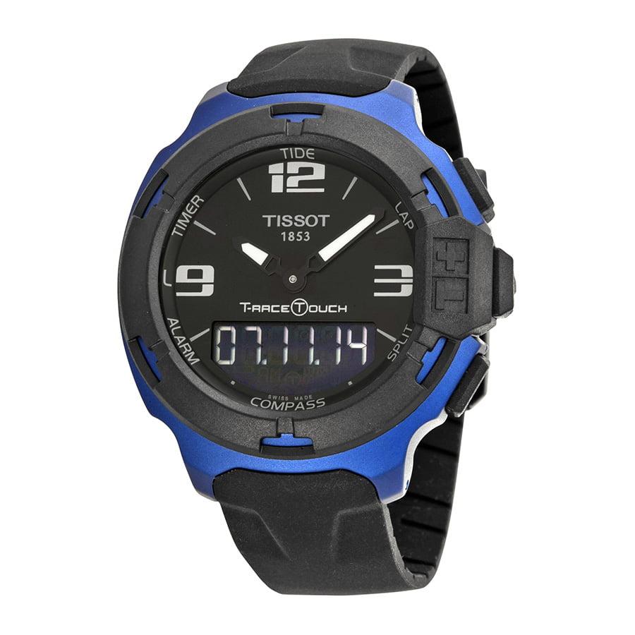 Tissot T-Race Touch Black Dial Black Rubber Mens Watch T0...
