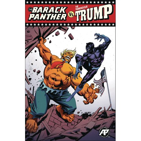 Antartic Press The Barack Panther Vs. The Tremendous Trump #1 Red Triumph