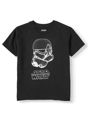 "Star Wars ""Wired Trooper"" Short Sleeve Licensed T-Shirt (Little Boys & Big Boys)"