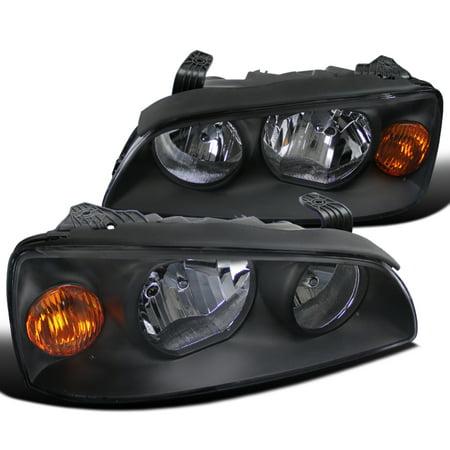 Spec-D Tuning For 2004-2006 Hyundai Elantra Headlights Black Crystal Headlights + Amber Reflector 2004 2005 2006 (Left+Right)