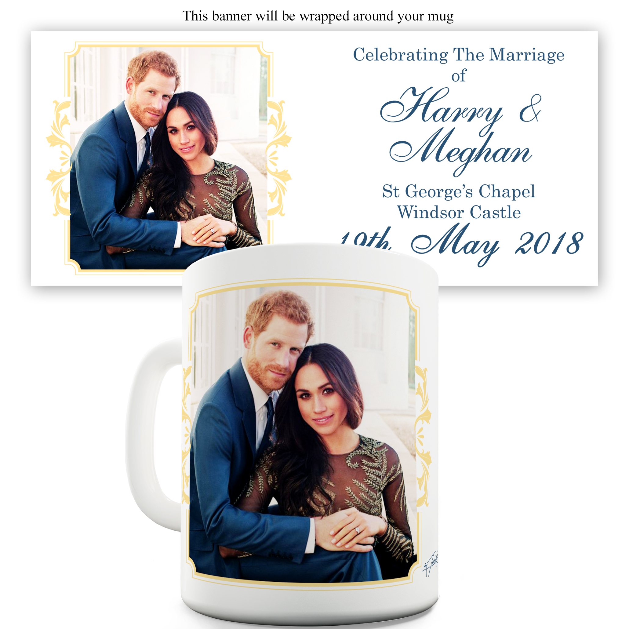 Harry And Meghan Marriage Windsor Castle Ceramic Mug