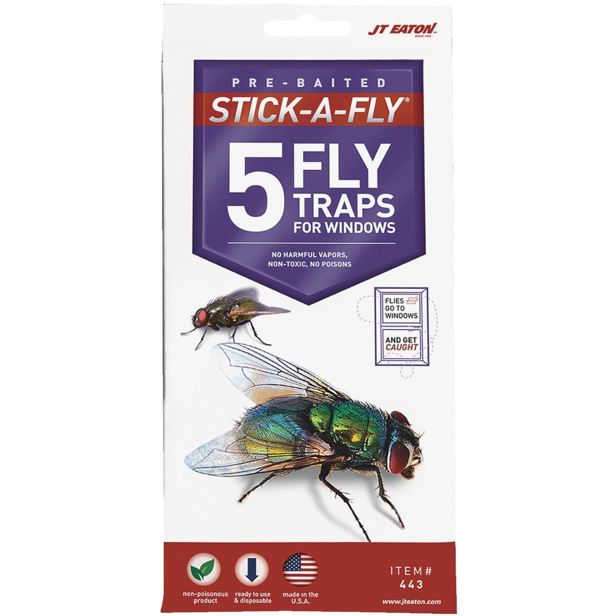 JT Eaton Stick-A-Fly Fly Trap For Windows
