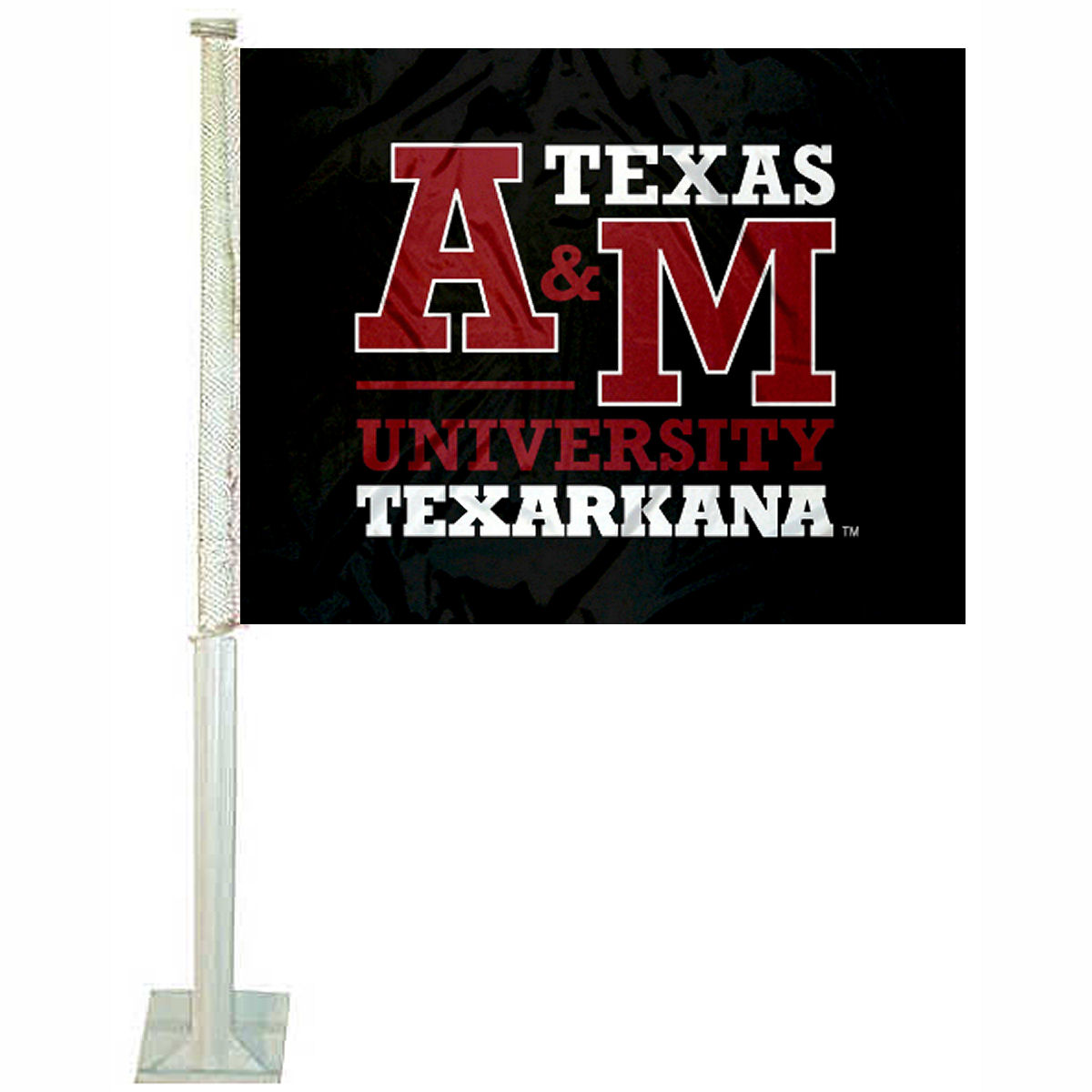 "Texas A&M University Texarkana 12"" x 15"" Car Flag"