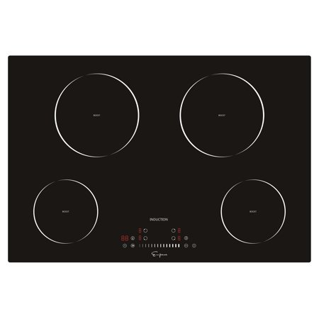 """Induction Stove - Empava 30"""" Electric Stove Top Induction Cooktop Vitro Ceramic Glass With 4 Booster Burners Smooth Surface Black EMPV-IDC30"""